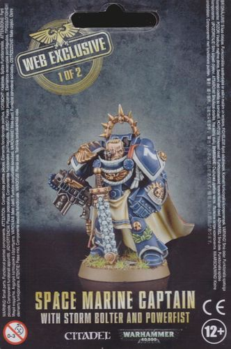Space Marine Captain with Storm Bolter and Power Fist -web exclusive