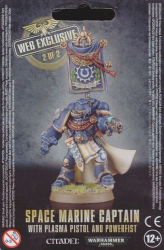 Space Marine Captain with Plasma Pistol, Power Fist and Banner