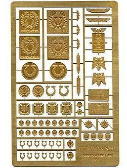 Etched Brass Ultramarines Symbols