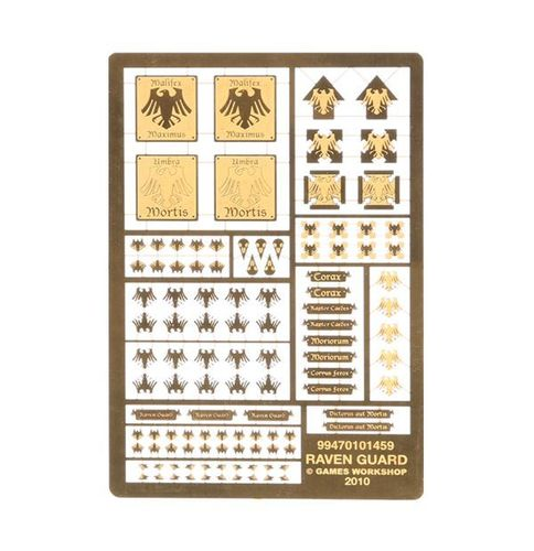 Etched Brass Raven Guard Symbols