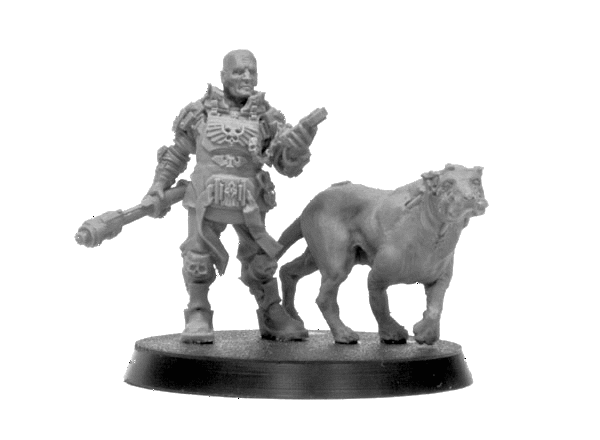 Imperial Enforcer With Cyber Mastiff Forgeworld Gamesday