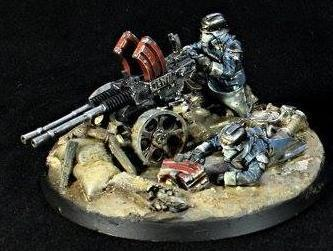 Death Korps of Krieg Heavy Stubber Team 1