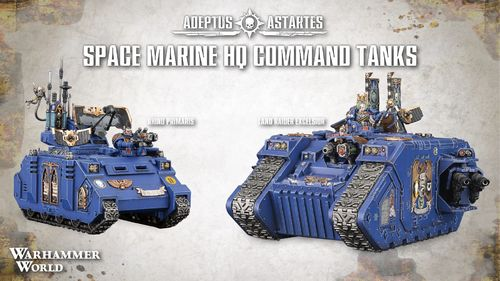 Space Marine HQ Command Tanks