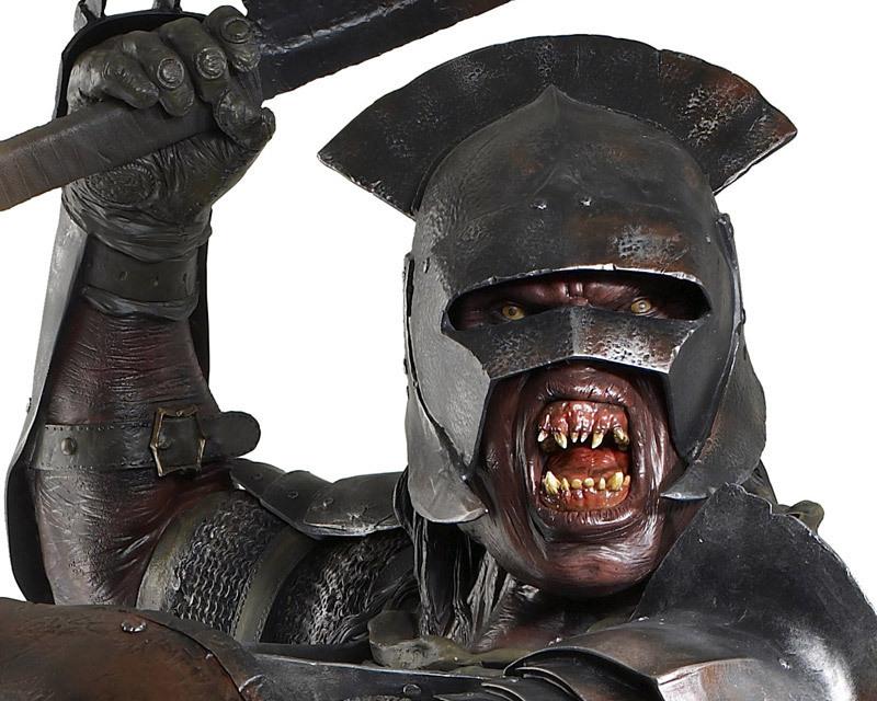 Der Herr Der Ringe Uruk Hai Orc Life Size Statue Figur Evil