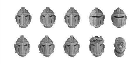Imperial Fists MKIII Upgrade Set - Veteran Heads