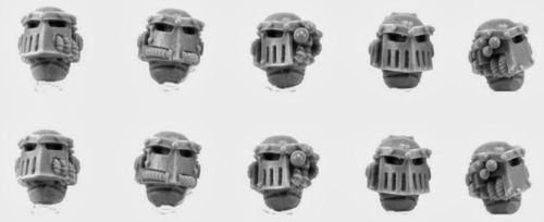 Iron Hands Legion Upgrade Set - Heads