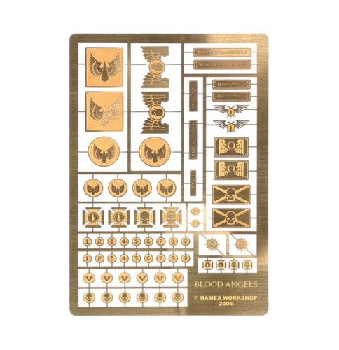 Etched Brass Blood Angels Symbols