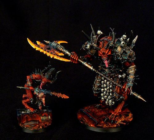 Khorne Daemon Prince and Herald
