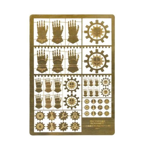 Etched Brass Iron Hands Symbols