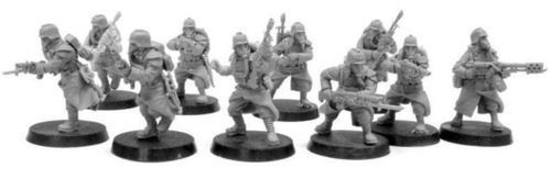 Death Korps of Krieg Infantry Squad Advancing