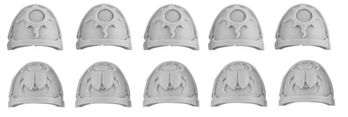 Thousand Sons Achean Pattern Shoulder Pads