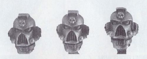Space marine Helmets 54mm Booster Pack (Metal)