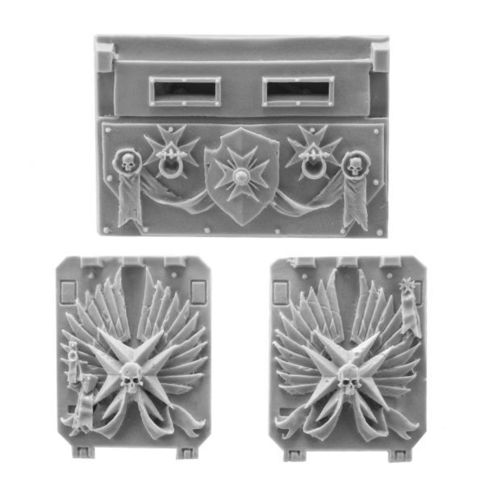 Black Templars Rhino Doors and Front Plate Set 2