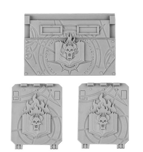 Word Bearers Rhino Doors and Front Plate