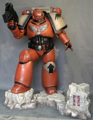 Space Marine Life Size Stature (Option-New Color)
