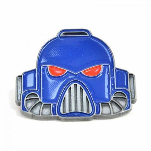 Warhammer 40,000 Pin Badge - Space Marine Helmet