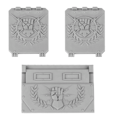 Imperial Fists Rhino Doors and Front Plate