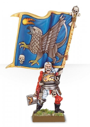 Empire Battle Standard Bearer with Griffon Banner (Metal)