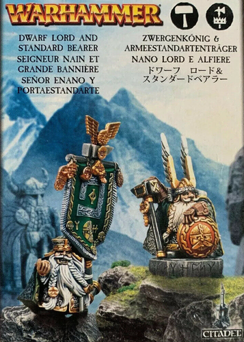 Dwarf Lord and Standart Bearer (Metal)