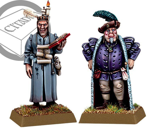 Warhammer Citizens of the Empire Merchant and Scribe (Metal)
